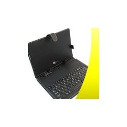 Custodia in Pelle per Tablet PC 10� Universale con Tastiera INTEGRATA